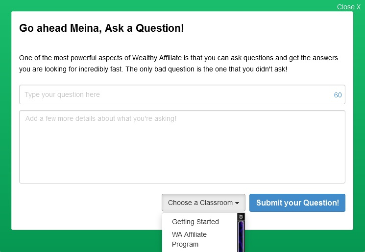 Ask A Question Form