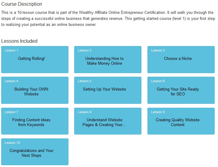 Wealthy Affiliate Get Started Here Overview