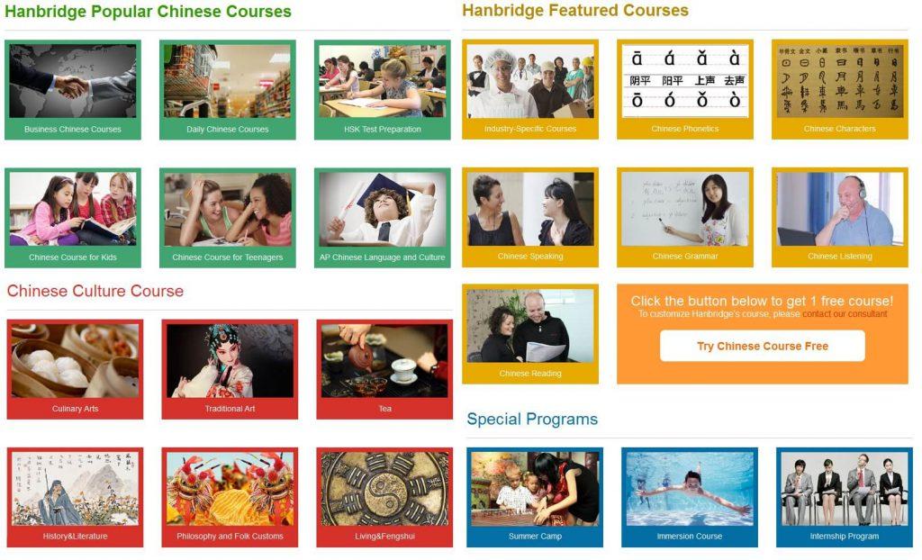 Hanbridge Mandarin Courses