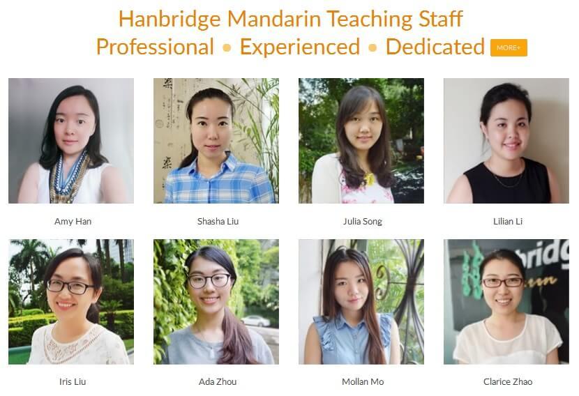 Hanbridge Mandarin Online Teachers