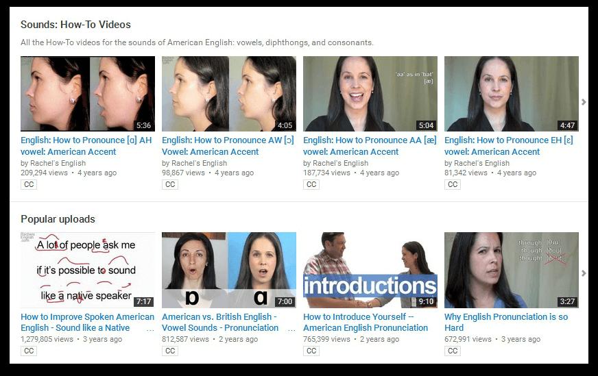 Learn English pronunciation with Rachel