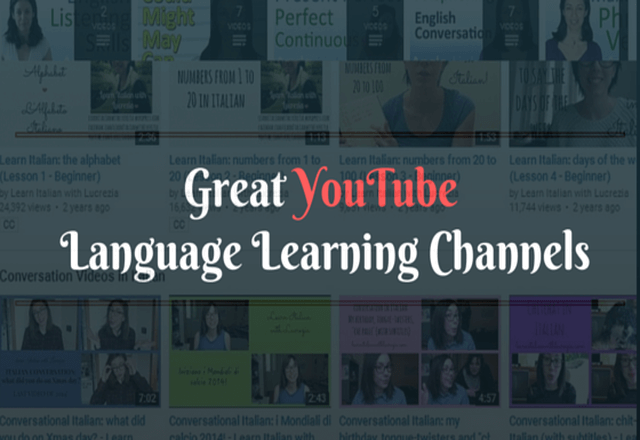 Great YouTube Language Learning Channels