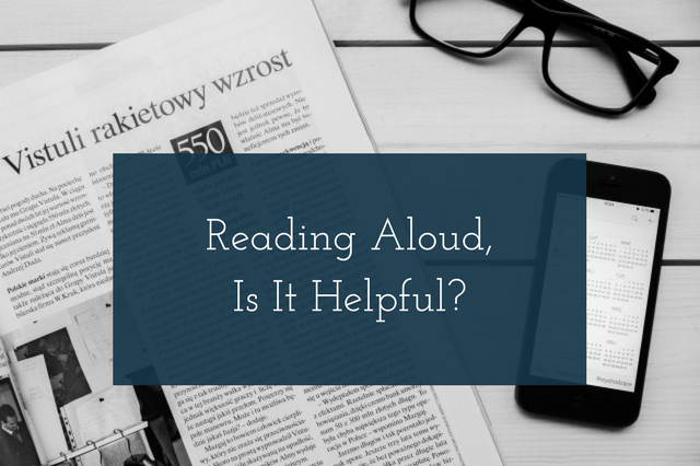 You are currently viewing Reading Aloud, Is It Helpful