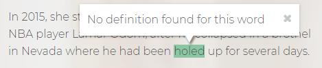 No definition found