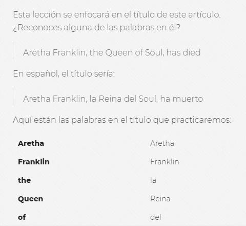 en.news Spanish Lesson Preview