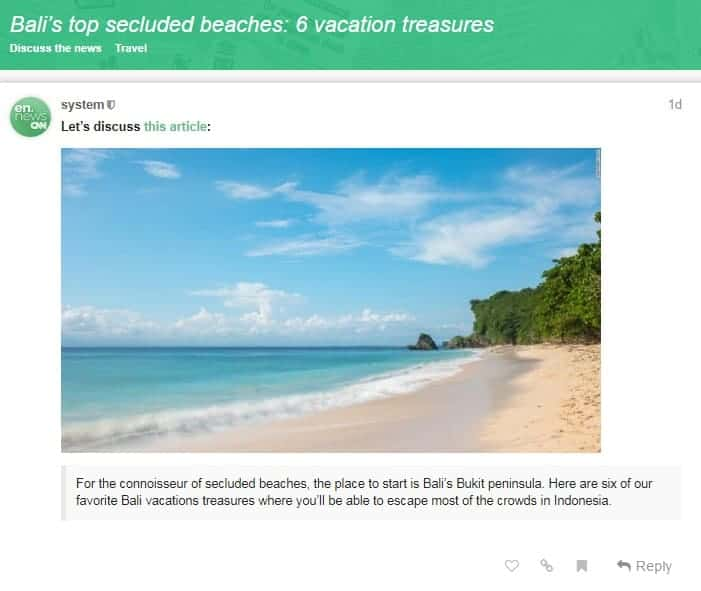 en.news lesson discussion board Example