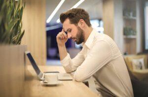 Man On A Laptop Thinking