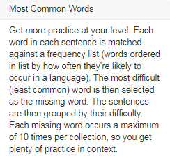 Most Common Words Explanation