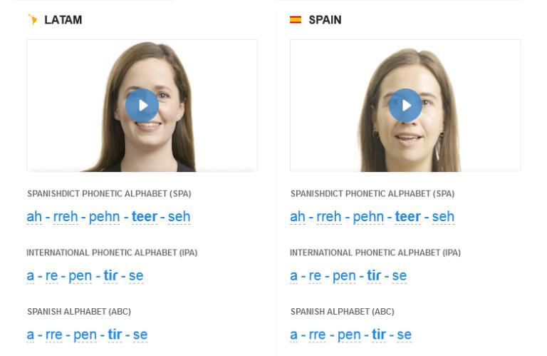 SpanishDict Pronunciation Videos