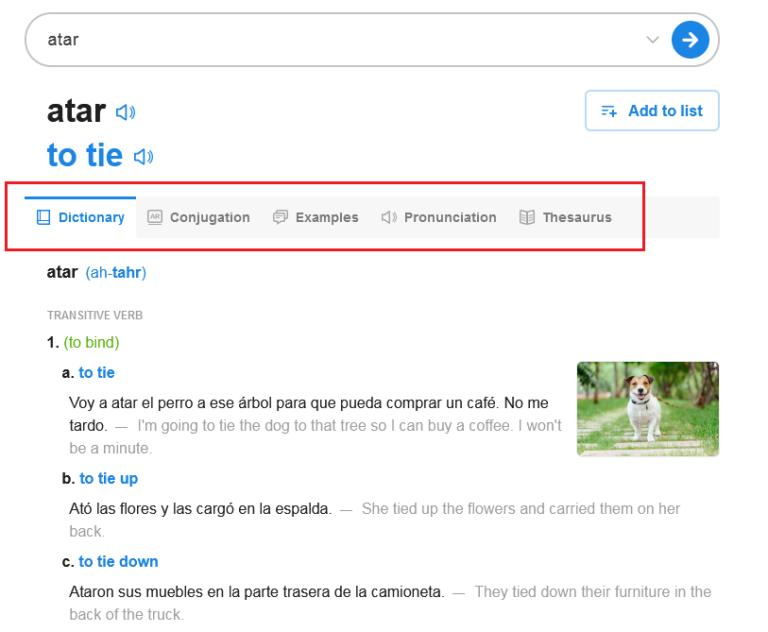 SpanishDict Translation Spanish Word