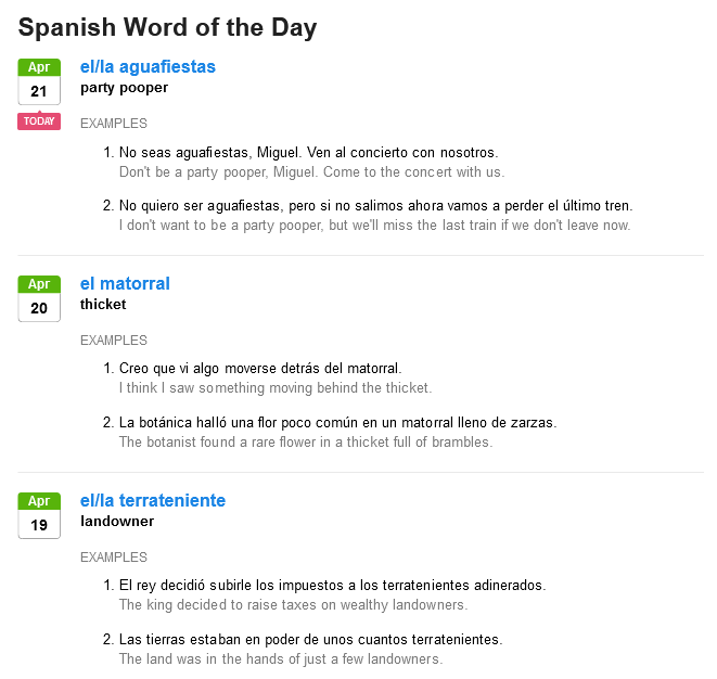 SpanishDict Word of the Day