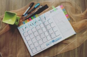 Planner and pens