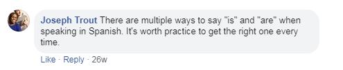 Joseph Trout Comment