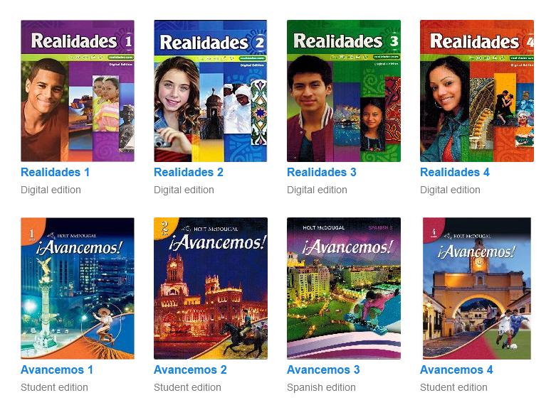 SpanishDict List of Available Textbooks